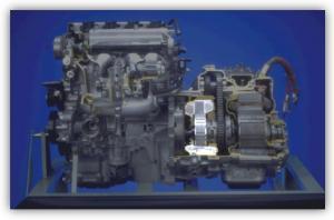 Rys. 1.4 Umiejscowienie silnika MG1 w napędzie [2]