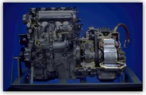 Rys. 1.6 Umiejscowienie silnika MG2 w napędzie [2]